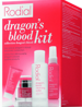RODIAL Dragon's Blood Discovery Kit - zestaw 4 miniaturowych bestsellerów: Cleansing Water 100ml, Tonic 50ml, Sculpting Gel 9ml, Moisturiser 10ml